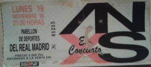 Pop Internacional-4-inxs-entrada concierto-vinilo coleccion