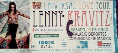 1-Lenny Kravitz-entrada concierto 1-Musica Negra-1