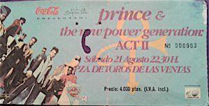 Musica Negra-2-Prince-entrada concierto-las ventas-vinilo coleccion