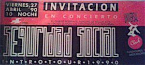 seguridad social entrada concierto-grupos españoles-2-vinilo coleccion