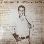 leonard cohen-live songs-pop internacional-3-vinilo coleccion